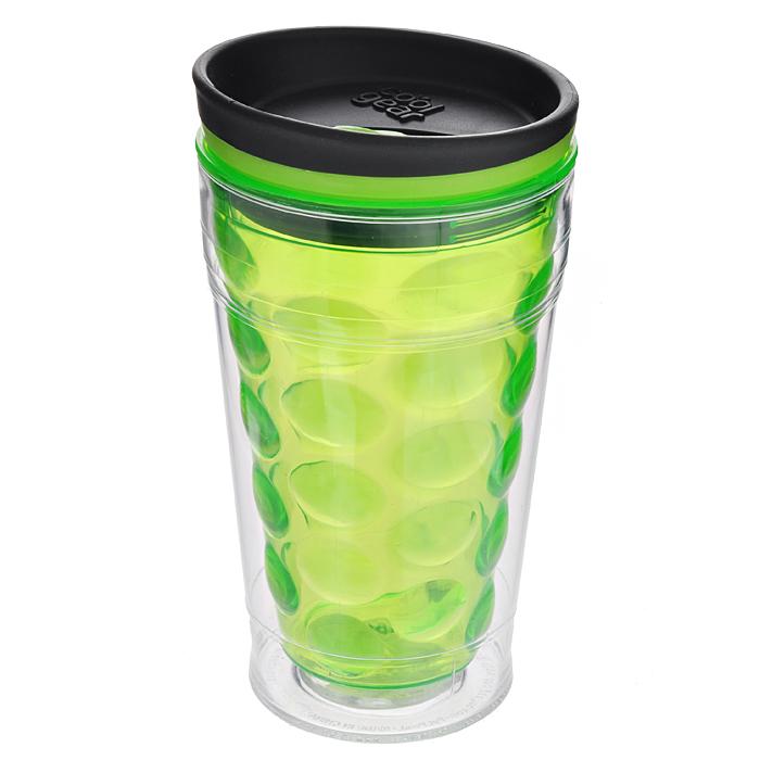 Кружка дорожная Cool Gear Eco 2 Go Bubble Coffee для горячих напитков, цвет: зеленый, 480 мл. 16691669 зел