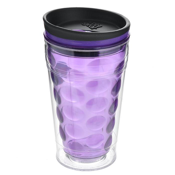 Кружка дорожная Cool Gear Eco 2 Go Bubble Coffee для горячих напитков, цвет: фиолетовый, 480 мл. 16691669 фиолДорожная кружка Cool Gear Eco 2 Go Bubble Coffee изготовлена из высококачественного BPA-free пластика, не содержащего токсичных веществ. Двойные стенки дольше сохраняют напиток горячим и не обжигают руки. Внутренняя колба с рельефом в виде пузырьков сделает кружку уникальной деталью вашего имиджа. Надежная закручивающаяся крышка с защитой от проливания обеспечит дополнительную безопасность. Оптимальный объем позволяет легко поместить кружку в автомобильный подстаканник, дорожную сумку или рюкзак. Кружка идеальна для ежедневного использования. На лыжной прогулке, пикнике или за рулем горячий напиток всегда под рукой! Кружка также подойдет для холодных напитков. Не рекомендуется использовать в микроволновой печи и мыть в посудомоечной машине. Cool Gear - мировой лидер в сфере производства товаров для питья, продукция которого пользуется огромной популярностью по всему миру! Ассортимент компании включает более 120 видов бутылок для питья и дорожных...