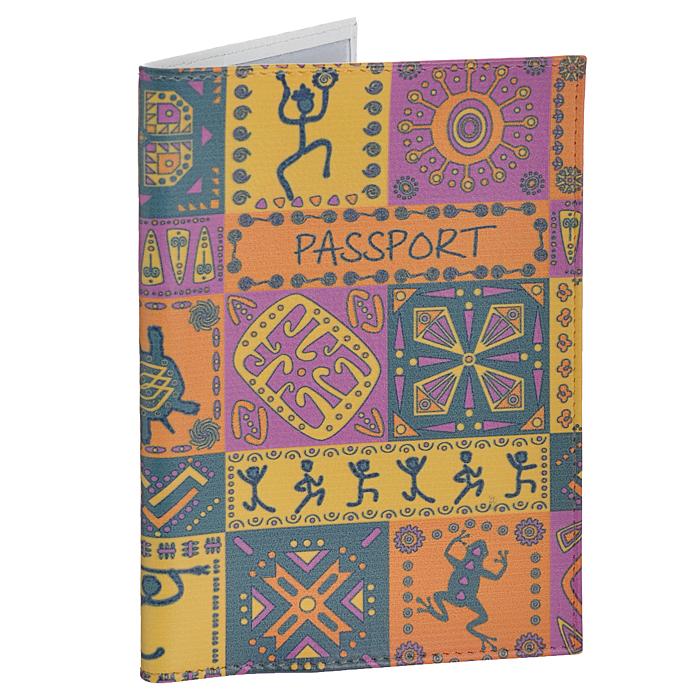 Обложка для паспорта Perfecto Африка. PS-PT-32PS-PT-32Обложка для паспорта Perfecto Африка изготовлена из натуральной кожи с ярким орнаментом в африканском стиле. Внутри содержится два кармашка из прозрачного ПВХ для паспорта. Обложка не только поможет сохранить внешний вид ваших документов и защитить их от повреждений, но и станет стильным аксессуаром, идеально подходящим вашему образу. Обложка для паспорта стильного дизайна может быть достойным и оригинальным подарком. Характеристики: Материал: натуральная кожа, ПВХ. Цвет: желтый, фиолетовый. Размер обложки: 9,5 см х 13,7 см.