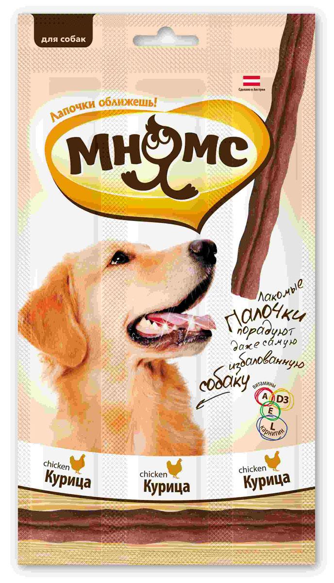 Лакомые палочки для собак Мнямс, с курицей, 3х15 г700217Лакомые палочки с курицей Мнямс - это вкусное и здоровое угощение для собак с большим содержанием мяса, которое придется по вкусу даже самому капризному любимцу. Палочки легко ломаются, идеально подходят в качестве поощрения для игр и тренировок. Норма употребления: давать в виде дополнения к основному питанию. Собаки мелких пород: 1-2 палочки в день. Собаки средних и крупных пород: 3-4 палочки в день (в зависимости от размера и активности собаки). Свежая вода должна быть всегда доступна вашему питомцу. Без искусственных ароматизаторов и красителей. Состав: мясо и продукты животного происхождения (90%, из них 17% курица), производные растительного происхождения, минералы, витамин А 5000 ME/кг, витамин D3 500 ME/кг, L-карнитин 1000 мг/кг, витамин Е 50 мг/кг, антиоксиданты, консерванты. Белок 30%, жир 23%, клетчатка 3%, зола 7,5%. Товар сертифицирован.