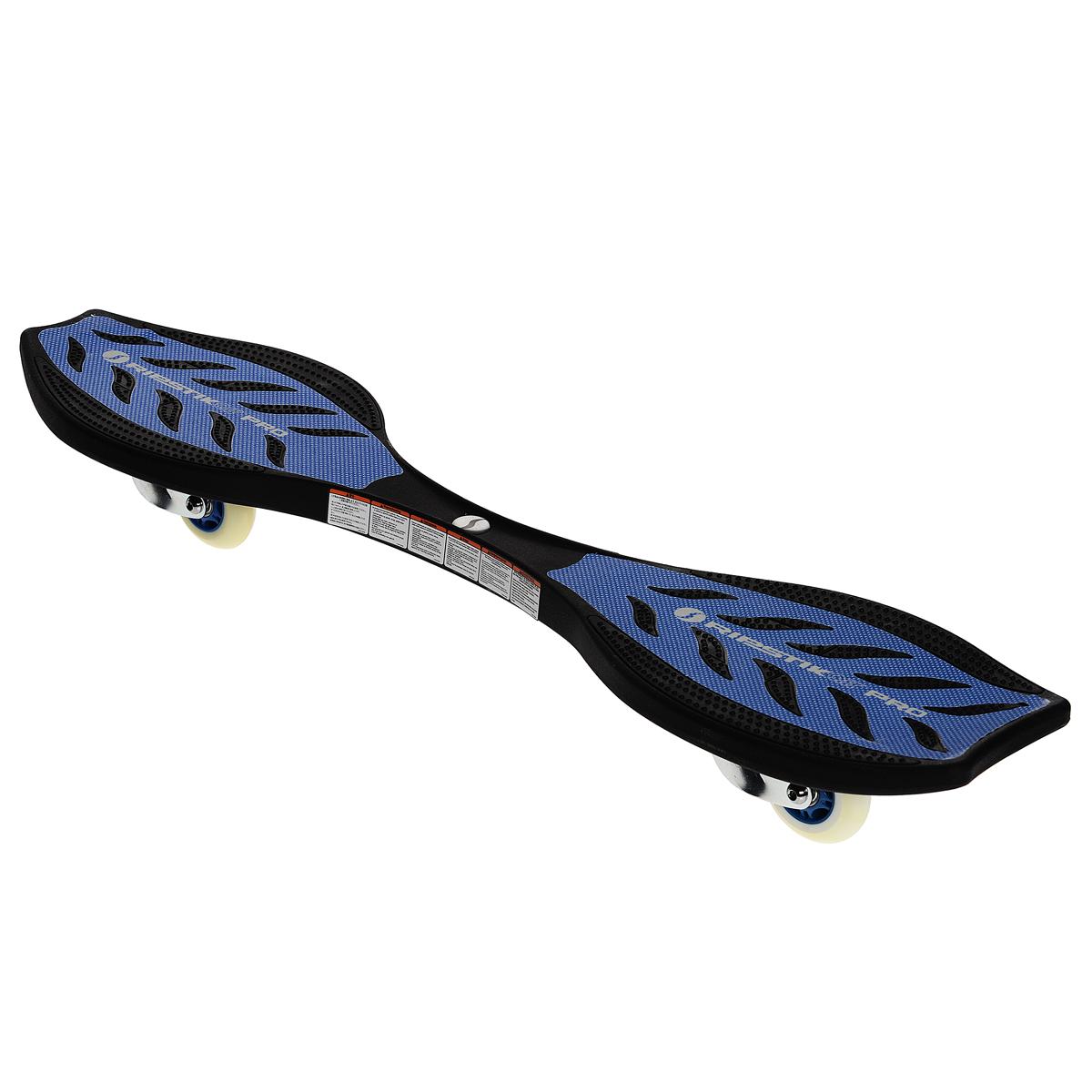 Скейтборд Ripstik Air Pro, двухколесный, цвет: синий2436Балансирующий скейтборд Ripstik Air Pro с двумя колесами - отличный выбор для опытных скейтбордистов, а также людей, любящих активно проводить время. Колеса скейтборда выполнены из прочного полиуретана и вращаются на 360°. В последнее время экстремальные виды спорта, такие как катание на скейтборде, становятся очень популярными. Скейтбординг - это зрелищный и экстремальный вид спорта, представляющий собой катание на роликовой доске с преодолением препятствий и выполнением различных трюков.