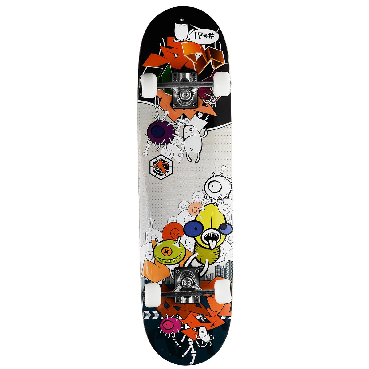 Скейтборд MaxCity Crank, цветной принт, дека 79 см х 20 см2770960904318Cкейтборды MaxCity - это самый подходящий вариант для начинающих скейтбордистов и просто любителей. Качественные материалы изготовления дадут вам полностью ощутить удовольствие от катания, а надежные комплектующие позволят выполнять несложные трюки без риска повредить доску. MaxCity - это качество по приемлемой цене. Нижняя часть деки украшена оригинальным рисунком.