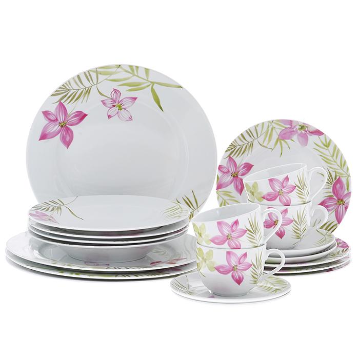 Набор посуды Legendale, 20 предметов. SHQ13-011SHQ13-011Набор посуды Legendale изготовлен из высококачественного фарфора белого цвета. Предметы набора оформлены изящным цветочным рисунком. В набор входят: 4 кружки, 4 суповые тарелки, 4 обеденные тарелки, 4 десертные тарелки, 4 блюдца. Набор создаст отличное настроение во время обеда, будет уместен на любой кухне и понравится каждой хозяйке. Практичный и современный дизайн делает набор довольно простым и удобным в эксплуатации. Изделия можно использовать в микроволновой печи, духовом шкафу и холодильнике. Подходят для мытья в посудомоечной машине.