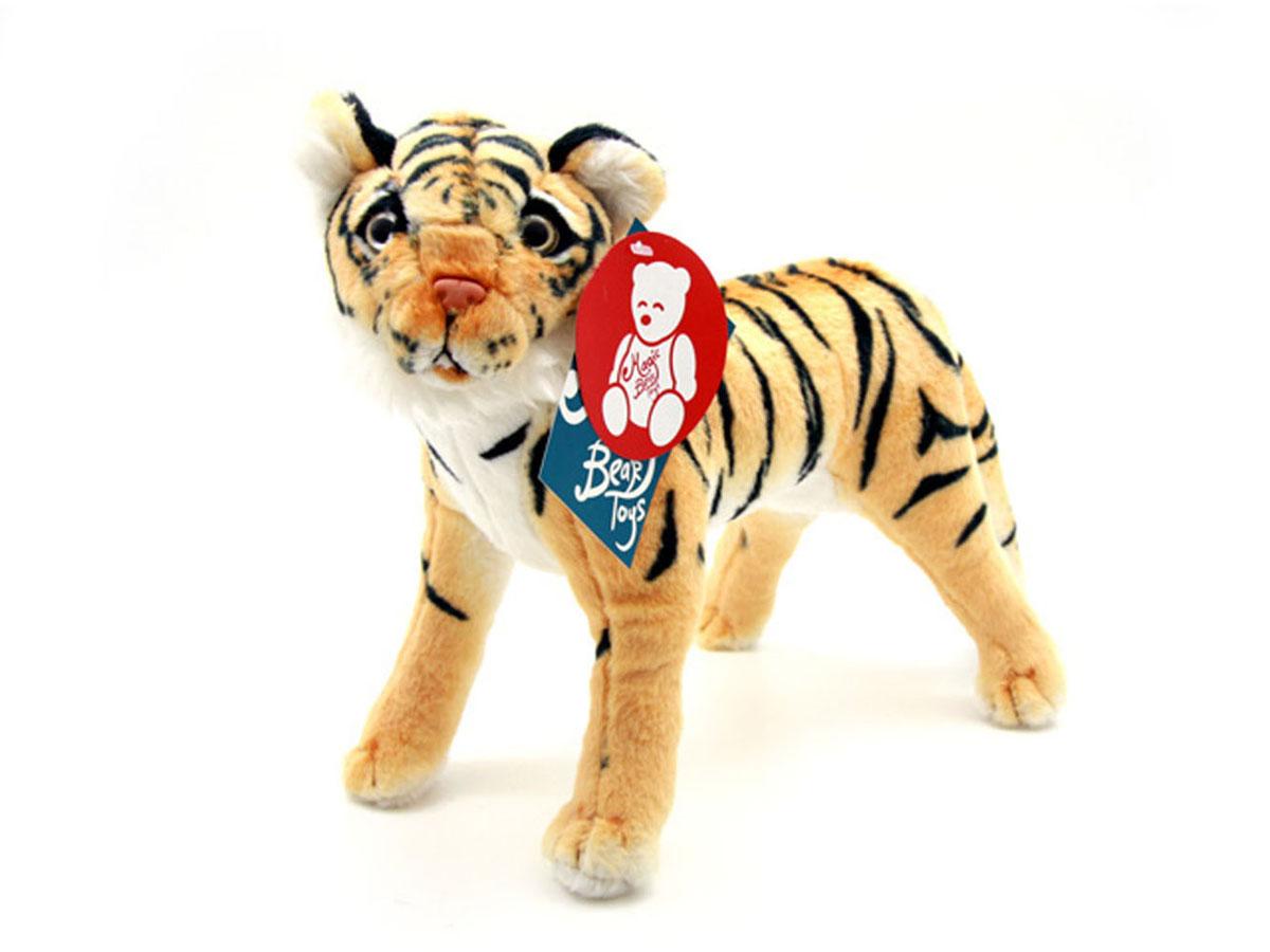 Мягкая игрушка Magic Bear Toys Тигр, цвет: бежевый, черный, 30 смR-HL38BRМягкая игрушка Magic Bear Toys Собака привлечет внимание вашего ребенка. Она выполнена из мягкого плюша и искусственного меха в виде тигра и максимально похожа на представителя дикой фауны. Глаза и нос у игрушки пластиковые. Благодаря жесткому каркасу тигр может стоять. Удивительно мягкая игрушка принесет радость своему обладателю и познакомит его с животным миром. Игрушка приятно удивит вас оригинальностью идеи и высоким качеством исполнения. Она станет отличным подарком на любой праздник.