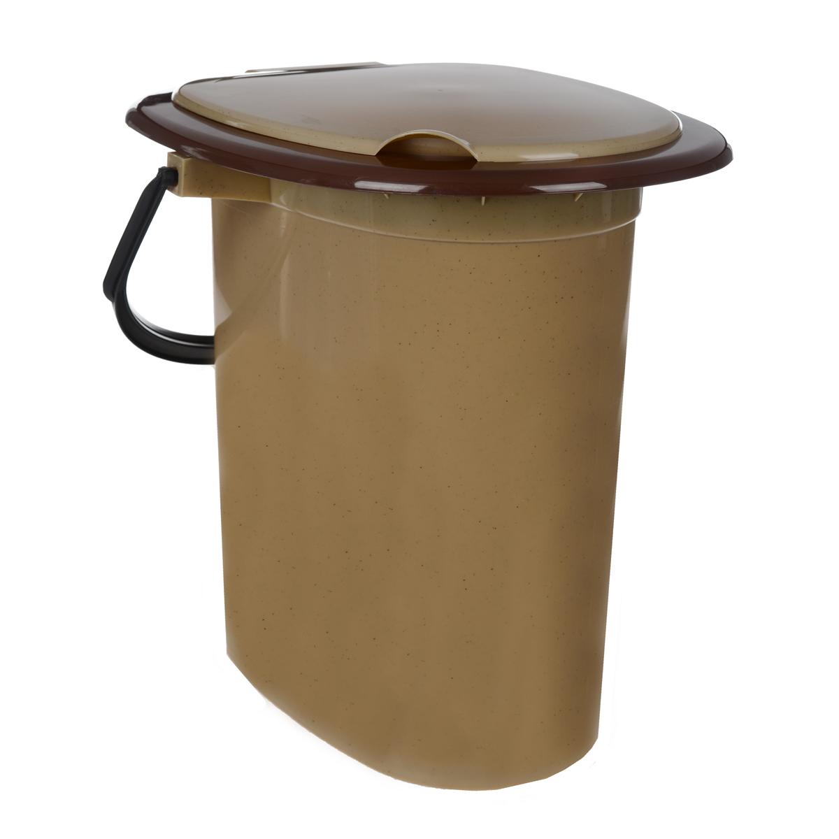 Ведро-туалет, цвет: коричневый, 16 лC205/205Ведро-туалет – это портативный переносной туалет. Ведро-туалет предназначено для применения в местах, где отсутствуют системы стационарной канализации. Удобное, прочное и эргономичное. Имеет ручку для переноски и съемную крышку. Сделано из высококачественного пластикового материала, легко моется.