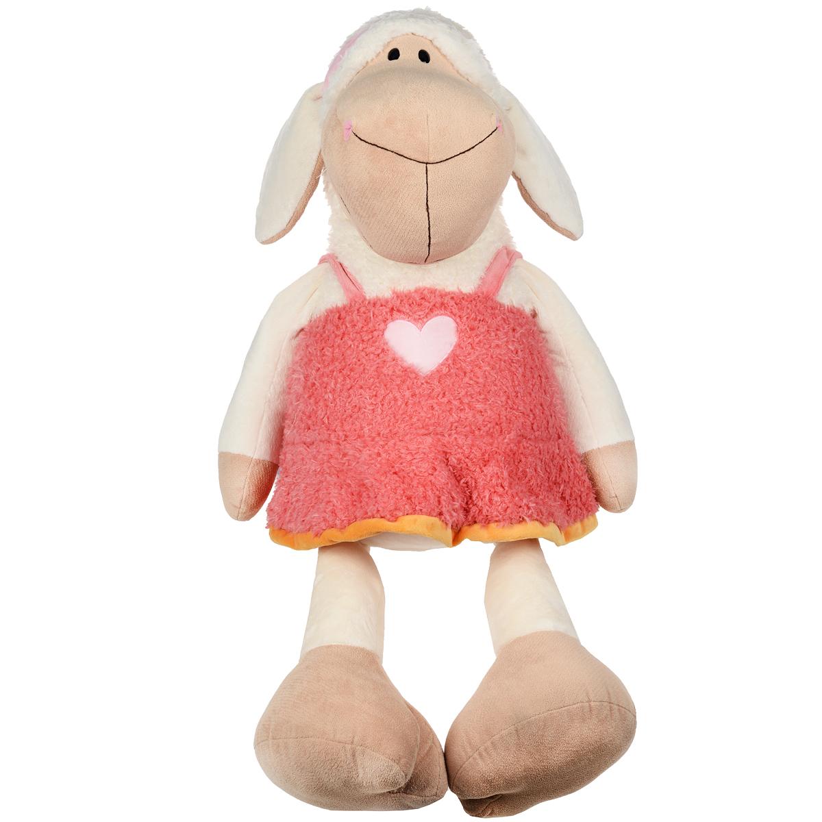 Мягкая игрушка Nici Овечка Фрэнсис, сидячая, 120 см36337Мягкая игрушка Nici Овечка Фрэнсис подарит вашему ребенку много радости и веселья! Она выполнена из мягкого плюша с набивкой из синтепона в виде симпатичной овечки-девочки в розовом сарафанчике и повязкой на голове. Игрушка удивительно приятна на ощупь. Чудесная мягкая игрушка принесет радость и подарит своему обладателю мгновения нежных объятий и приятных воспоминаний.
