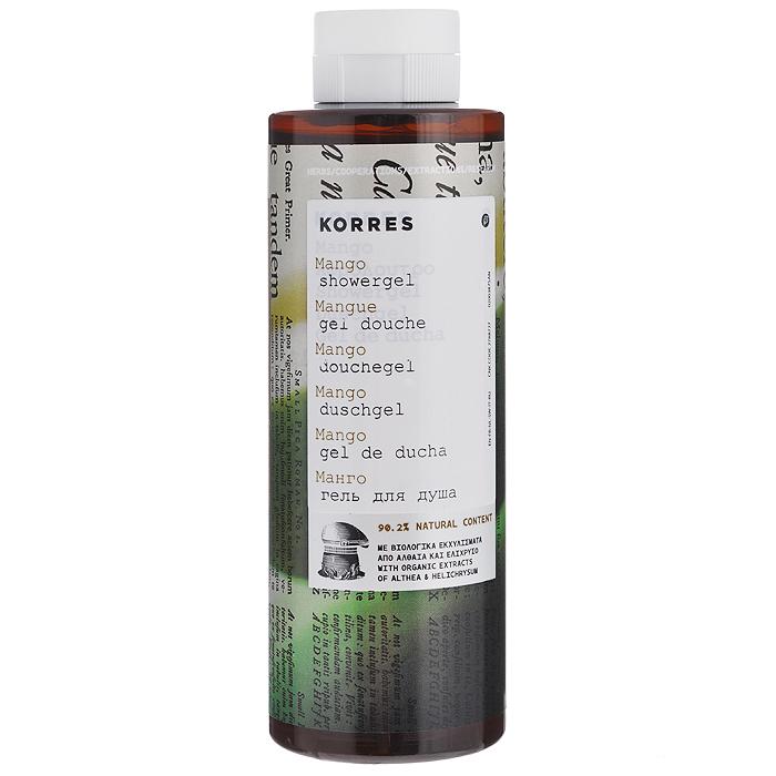 Korres Гель для душа Манго, 250 мл5203069043277Гель для душа Korres Манго, превращающийся в кремовую пену, оказывает потрясающий длительный увлажняющий эффект. Увлажненность кожи после смывания геля та же, что и после использования увлажняющих средств. Гель обладает приятным ароматом манго. Активные компоненты: экстракт алоэ, протеины пшеницы и провитамин B5.