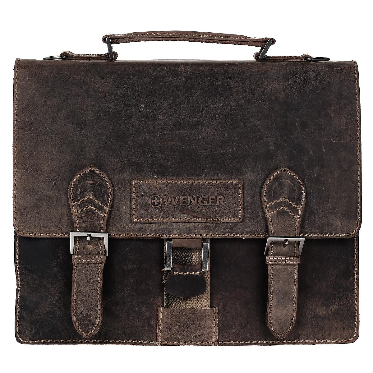 """Портфель мужской Wenger """"Stonehide"""", цвет: светло-коричневый. W16-11"""