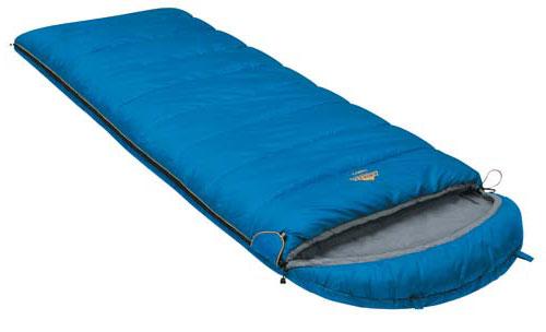 Спальный мешок-одеяло Alexika Comet, цвет: синий, левосторонняя молния. 9261.010529261.01052Качественное исполнение и доступная цена - вот то, что выгодно выделяет эту модель спальника Alexika Comet среди подобных. Основная особенность спальника с подголовником Comet - небольшой вес, что весьма актуально для тех, кто не любит носить лишние тяжести. Наполнитель спального мешка изготавливается из легкого синтетического материала, теплоизоляционные свойства которого приближаются к характеристикам пуховых одеял. Кроме того, утеплитель в Alexika Comet сформирован так, что холодный воздух не может проникнуть через швы. Треугольный клапан мешка оснащен светоотражающим ярлыком и круглой липучкой. Спальник-одеяло Alexika Comet обеспечит комфортный ночной отдых. Каждая деталь в нем тщательно продумана разработчиками. Так, вы никогда не столкнетесь с тем, что молния спальника плохо застегивается - производители используют лишь качественную проверенную фурнитуру. При необходимости вы сможете соединить вместе несколько мешков - у модели предусмотрена...