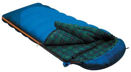 Спальный мешок-одеяло Alexika Tundra Plus, цвет: синий, левосторонняя молния. 9257.010529257.01052