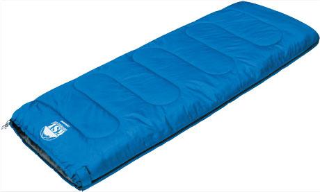 Спальный мешок-одеяло KSL Camping, цвет: синий, правосторонняя молния. 6251.010516251.01051
