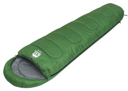 Спальный мешок KSL Trekking, цвет: зеленый, правосторонняя молния. 6221.010116221.01011