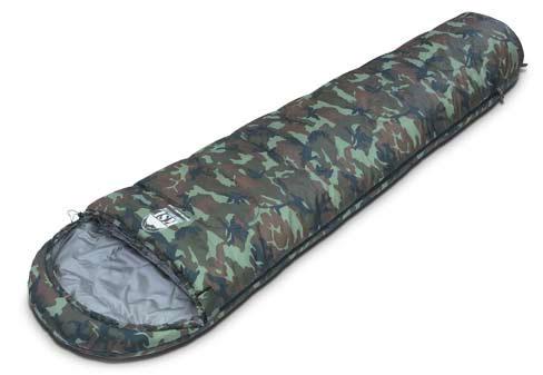 Спальный мешок KSL Trekking Nord Camo, цвет: камуфляж, правосторонняя молния. 6223.01206223.0120