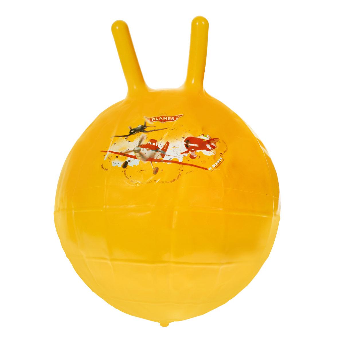 Мяч - попрыгунчик Самолеты, диаметр 50 см06/984Надувной мяч-попрыгунчик от итальянского бренда Mondo, это не только детская игрушка, но и полезный тренажер для вашего ребенка. Совместите приятное с полезным – пусть в процессе веселых игр ваш малыш укрепляет мышцы, формирует правильную осадку, разрабатывает подвижность рук и ног, и укрепляет вестибулярный аппарат. Мяч выполнен из высококачественных материалов и украшен изображениями самолетов - героями мультфильма Самолеты. Пусть ваш ребенок растет здоровым вместе с этим мячом!