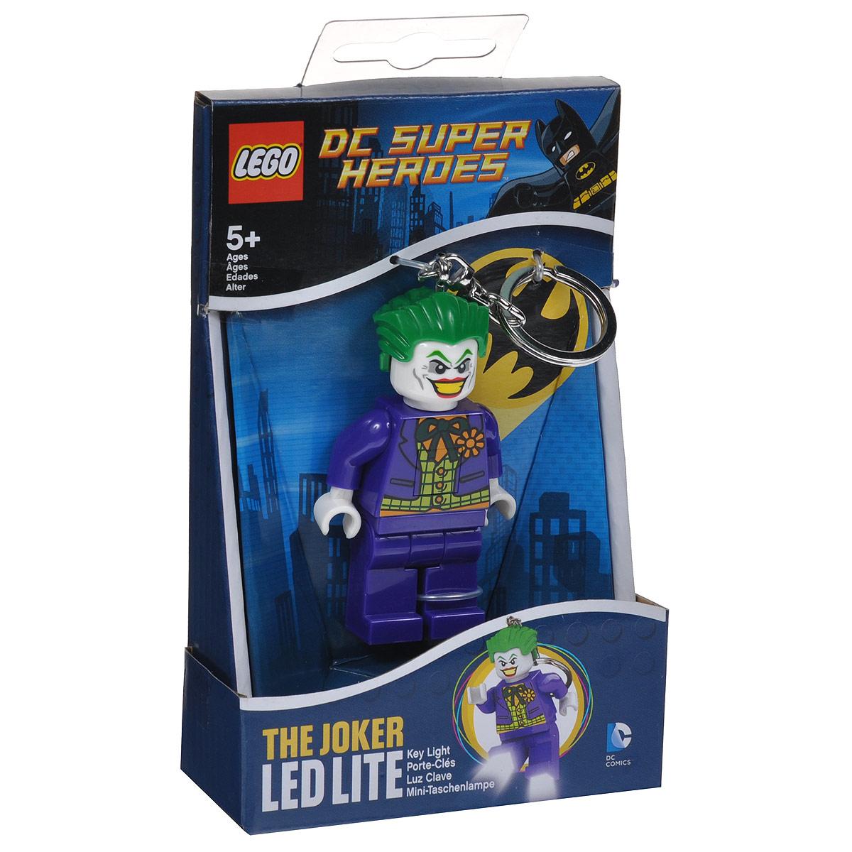Брелок-фонарик для ключей Lego JokerLGL-KE30Брелок Lego Joker станет отличным подарком для родственников, знакомых или коллег по работе. Его можно пристегнуть к рюкзаку, сумке или повесить на связку ключей. Брелок имеет функцию фонарика, с помощью которой вы сможете в ночное время суток заглянуть под капот машины, осветить себе путь во время поздних пеших прогулок, разглядеть в темном подъезде замочную скважину.