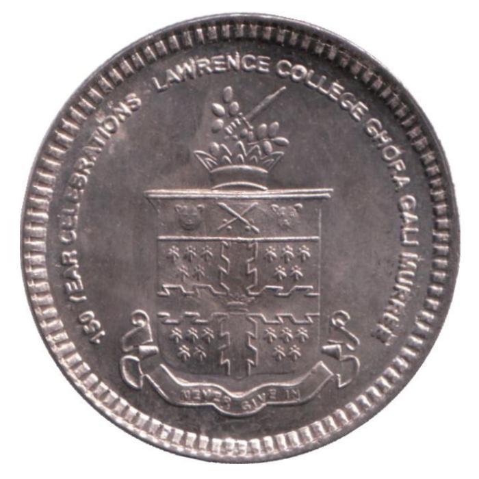 Монета номиналом 20 рупий 150 лет колледжу Лоуренса. Пакистан. 2011 год471305Монета номиналом 20 рупий 150 лет колледжу Лоуренса. Пакистан. 2011 год. Состояние: очень хорошее. Диаметр: 30 мм. Материал: Медно-никелевый сплав.