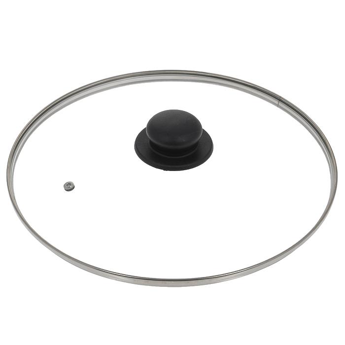 Крышка стеклянная Jarko. Диаметр 30 смКС*GTL30110Крышка Jarko, изготовленная из термостойкого стекла, позволяет контролировать процесс приготовления без потери тепла. Ободок из нержавеющей стали предотвращает сколы на стекле. Крышка оснащена отверстием для паровыпуска. Ненагревающаяся ручка выполнена из бакелита. Характеристики: Материал: стекло, нержавеющая сталь, бакелит. Диаметр крышки: 30 см.