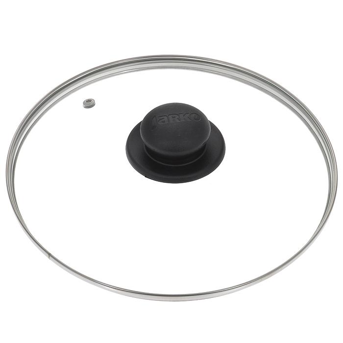 Крышка стеклянная Jarko. Диаметр 26 смКС*GTL26110Крышка Jarko, изготовленная из термостойкого стекла, позволяет контролировать процесс приготовления без потери тепла. Ободок из нержавеющей стали предотвращает сколы на стекле. Крышка оснащена отверстием для паровыпуска. Ненагревающаяся ручка выполнена из бакелита.