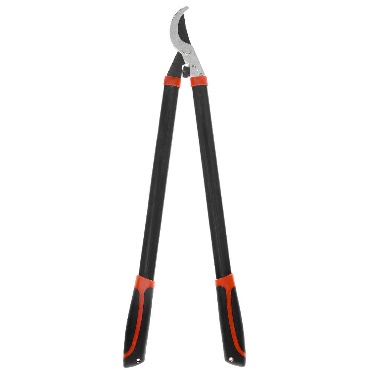 Сучкорез FIT, 720 мм. 7712077120Сучкорез FIT выполнен из высокопрочной инструментальной стали. Для удобства работы предусмотрены длинные ручки с пластиковыми прорезиненными накладками. Лезвия сучкореза с тефлоновым покрытием остро заточены. Сучкорез предназначен для обрезания тонких веток и корней.