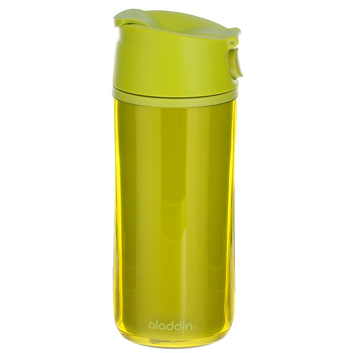 Бутылка Aladdin F&S, цвет: лайм, 0,35 л10-01503-011Герметичная бутылка Aladdin F&S изготовлена из пластмассы, двустенная изоляция коллекции FLIP & SIP, удобна для эксплуатации в автомобиле, так как позволяет одной рукой открывать, закрывать и пить, не отвлекаясь от дороги. Отлично подойдет для занятий спортом.