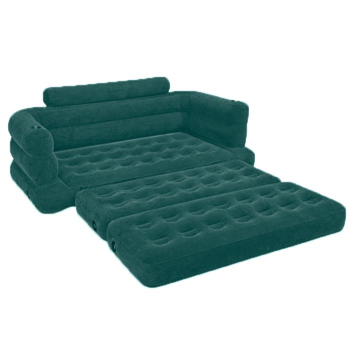 Диван надувной Intex, цвет: бирюзовый, 193 х 231 х 71 см. 68566