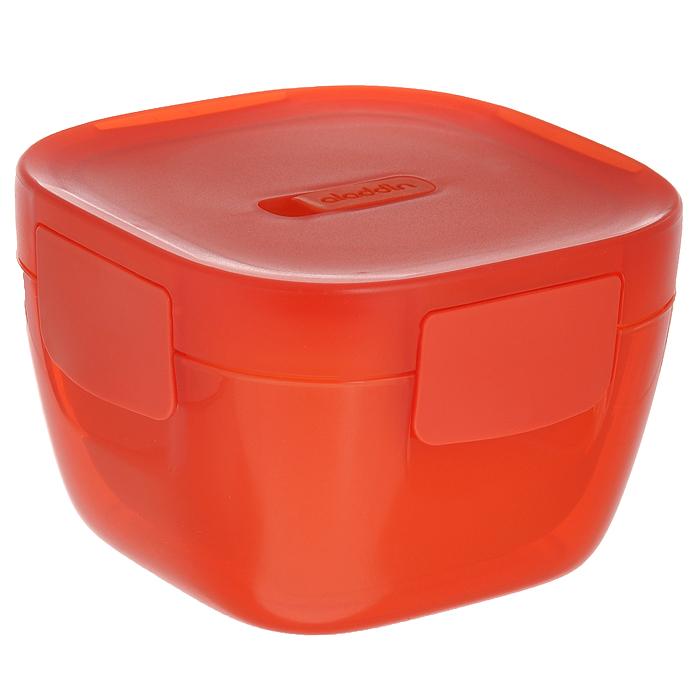 Контейнер для ланча Aladdin Lunch Bowl, цвет: красный, 0,85 л10-01545-001Емкость для ланча Aladdin Lunch Bowl из коллекции Crave изготовлена из пластмассы. Особенности: Двустенная пенопластовая изоляция 100% герметичность Вентиляционное отверстие для подогрева в микроволновке Не содержит бисфенол Размер контейнера 1: 15 см х 15 см х 10 см. Размер контейнера 2: 13 см х 13 см х 9 см.