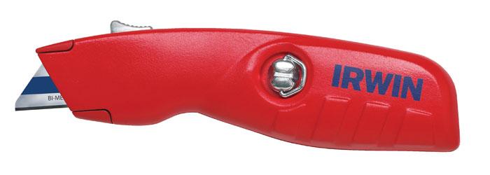 Нож выдвижной трапециевидный Irwin10505822Безопасный нож с подпружиненным челночным механизмом возврата лезвия, что позволяет сведение к минимуму риска получения травмы. Два положения лезвия: удлиненное лезвие на 2 мм для резки картона, и лезвие выдвинутое полностью для общего применения. Особенности: эргономичный дизайн снижающий усталость рук; быстрая замена лезвий без применения инструментов; удобный картридж, вмещающий 5 лезвий.