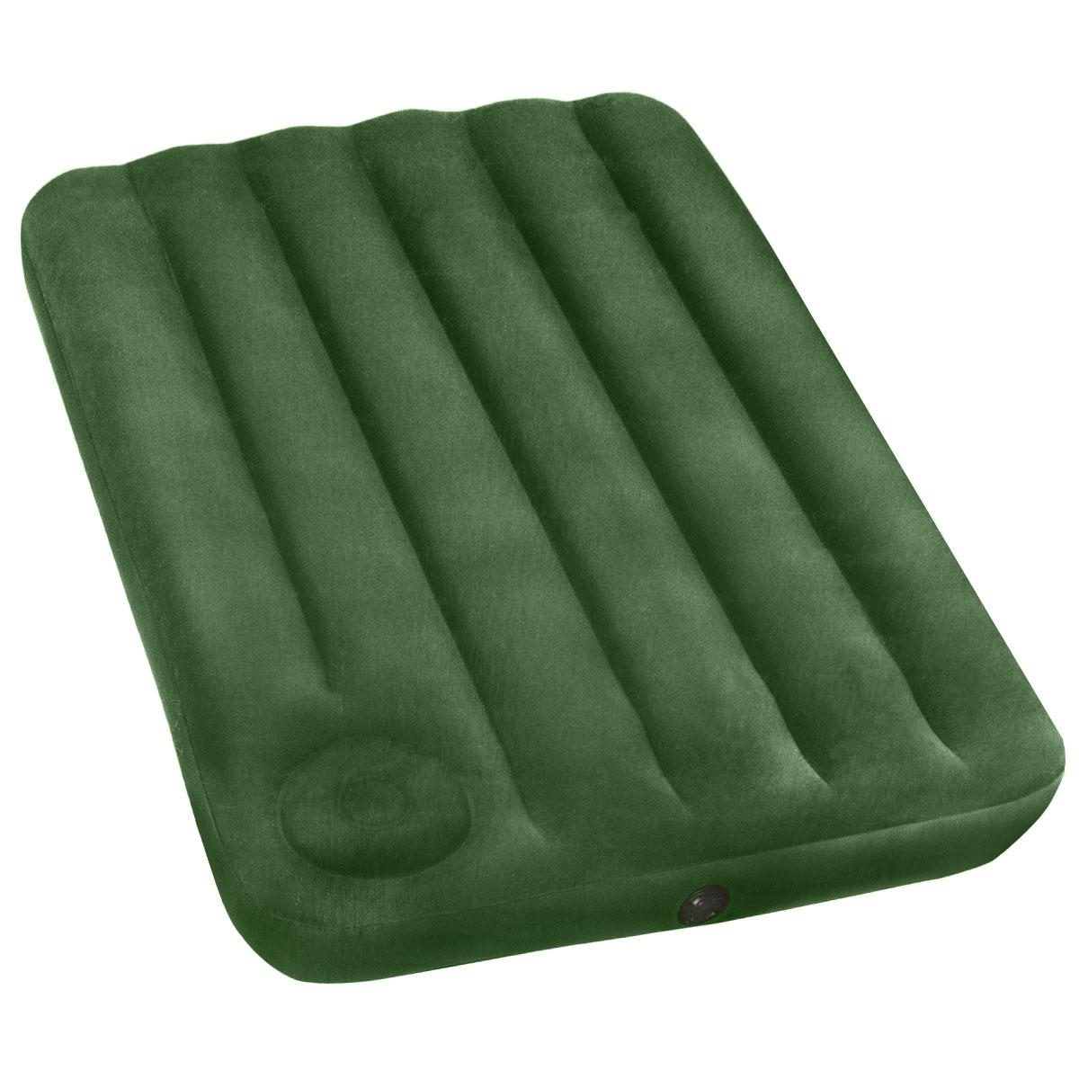 Матрас надувной Intex, флокированный, цвет: зеленый, 191 х 99 х 22 см. 6692766927Надувной матрас Intex удобен и прост в использовании, он позволит вам провести весело время на пляже или без труда организовать дополнительное спальное место. Изготовлен из высококачественного водонепроницаемого винила. Верхняя часть кровати имеет флокированное покрытие, по своим характеристикам напоминающее велюр, мягкое и приятное на ощупь. Для надувания матраса имеется встроенный ножной насос. Оснащен клапанами 2 в одном, позволяющими быстро спустить или накачать воздух, используя электрический или ручной насос. Гарантия производителя: 30 дней.