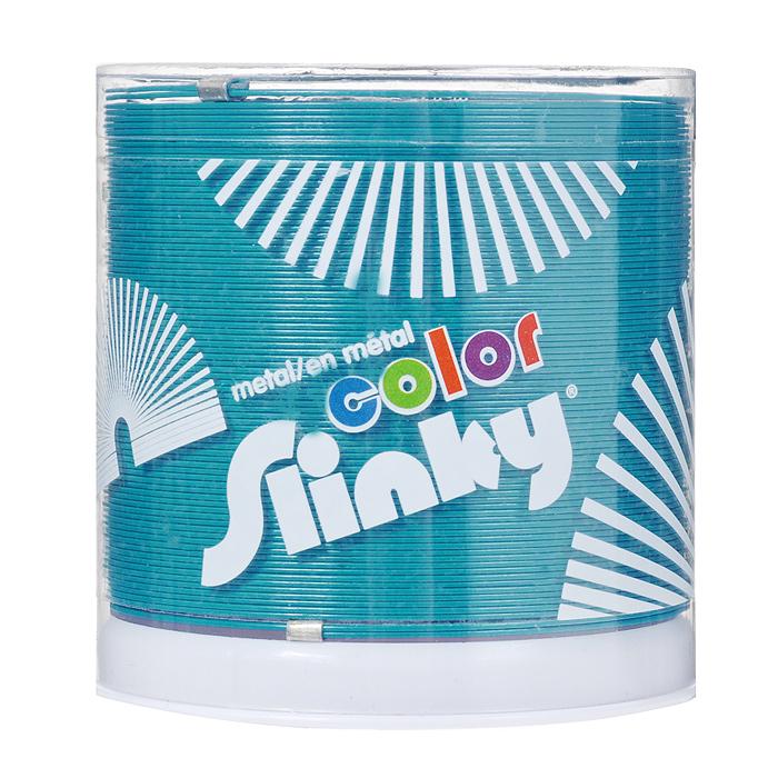 Игрушка-пружинка Slinky, металлическая, цвет: бирюзовыйСЛ8-111/blueИгрушка-пружинка Slinky - это deluxe-версия оригинальной пружинки Slinky из металла, окрашенная на заводе Slinky в США специальным цветным лаком с использованием самого современного оборудования и лучших материалов. Цветная пружинка из металла - это не просто игрушка, это вершина современного модельного ряда Slinky. Особый широкий профиль витков пружинки обеспечивает мягкое и плавное перекатывание, а так же исключает вероятность случайного запутывания. Как и классическую металлическую Слинки, эту пружинку можно запускать по лестнице или перекатывать из одной руки в другую. Порадуйте своего ребенка таким замечательным подарком!