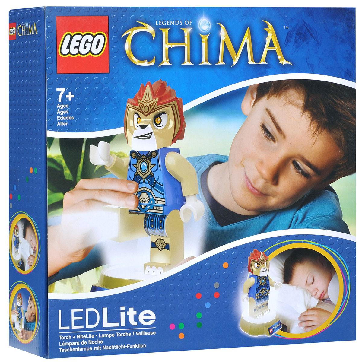 LEGO: Фонарик-ночник Chima: Laval LGL-TOB15LGL-TOB15Фонарик-ночник LEGO Chima Laval - обязательный атрибут детской комнаты. Его мягкий свет успокаивающе действует на малышей, которые боятся темноты, не напрягая детские глазки и не создавая излишнего светового излучения. При этом его света достаточно, чтобы легко ориентироваться в темноте. Ночник автоматически отключается через 30 минут. Фигурка снимается со светящейся базы, благодаря чему ее можно использовать как фонарик. Включается нажатием кнопки на груди. Фигурка питается от 3 батареек АА.