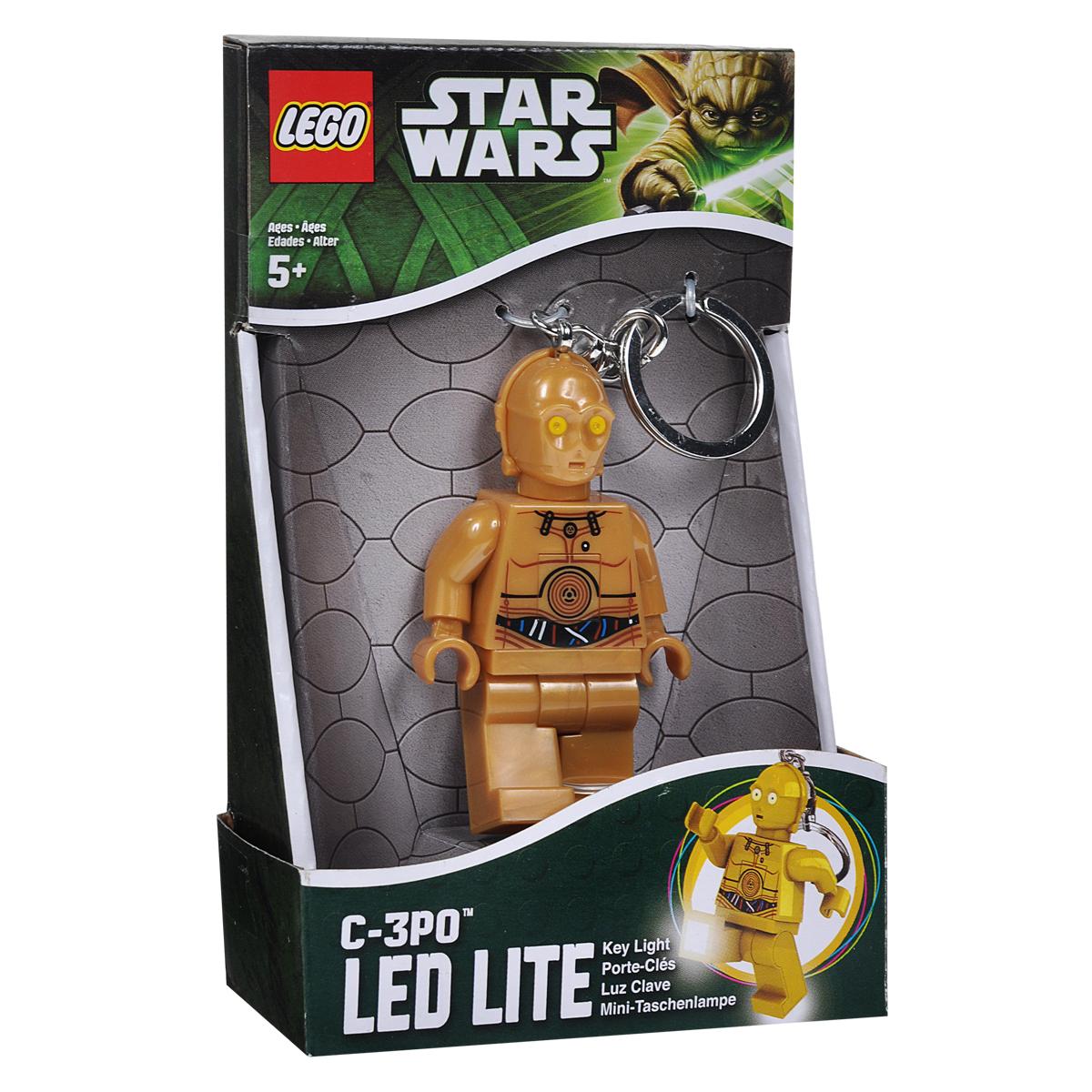 Брелок-фонарик для ключей Lego Звездные ВойныLGL-KE18Брелок-фонарик для ключей Lego Звездные Войны станет отличным подарком для знакомых или коллег по работе. Его можно пристегнуть к рюкзаку, сумке или повесить на связку ключей. Lego Звездные Войны - это современный осветительный прибор в классической форме фигурки Lego с подвижными конечностями. В ноги фигурки встроены два ярких светодиода, которые включаются нажатием на кнопку, расположенную на животе человечка.