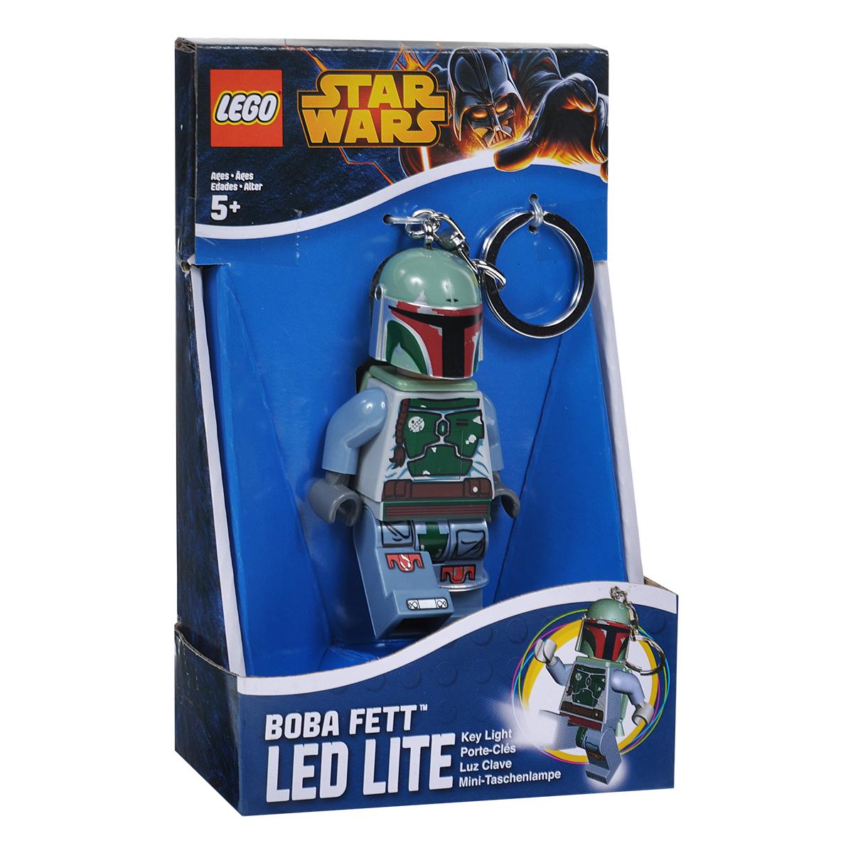 Брелок-фонарик для ключей Lego Звездные Войны Боба ФеттLGL-KE19Брелок Lego Звездные Войны Боба Фетт станет отличным подарком для родственников, знакомых или коллег по работе. Его можно пристегнуть к рюкзаку, сумке или повесить на связку ключей. Брелок имеет функцию фонарика, с помощью которой вы сможете в ночное время суток заглянуть под капот машины, осветить себе путь во время поздних пеших прогулок, разглядеть в темном подъезде замочную скважину.