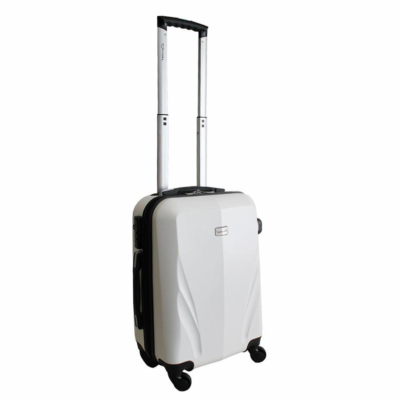 Чемодан-тележка Cavalet.42л, 851-50, белый851-50 whiteЯркий чемодан-тележка Cavalet на четырех колесах идеально подходит для поездок и путешествий. Корпус имеет жесткую конструкцию и выполнен из поликарбоната. Чемодан имеет одно вместительное отделение для хранения одежды и аксессуаров, с возможностью увеличения объема. Отделение закрывается на двойную застежку-молнию и имеет встроенный кодовый замок с функцией TSA. Внутри - разделитель на молнии, сетчатый карман на молнии, кармашек для мелочей на молнии и два открытых кармашка на резинке. Также в отделении предусмотрены багажные ремни для фиксации. Внутренняя поверхность изделия отделана полиэстером. В верхней части чемодана предусмотрена ручка для переноски с мягким резиновым вкладышем. На одной из боковых сторон - пластиковые ножки, на другой - дополнительная ручка для переноски. Чемодан оснащен удобной телескопической ручкой, которая выдвигается нажатием на кнопку. Стильный и удобный чемодан-тележка Cavalet вместит все необходимые вещи и станет незаменимым...