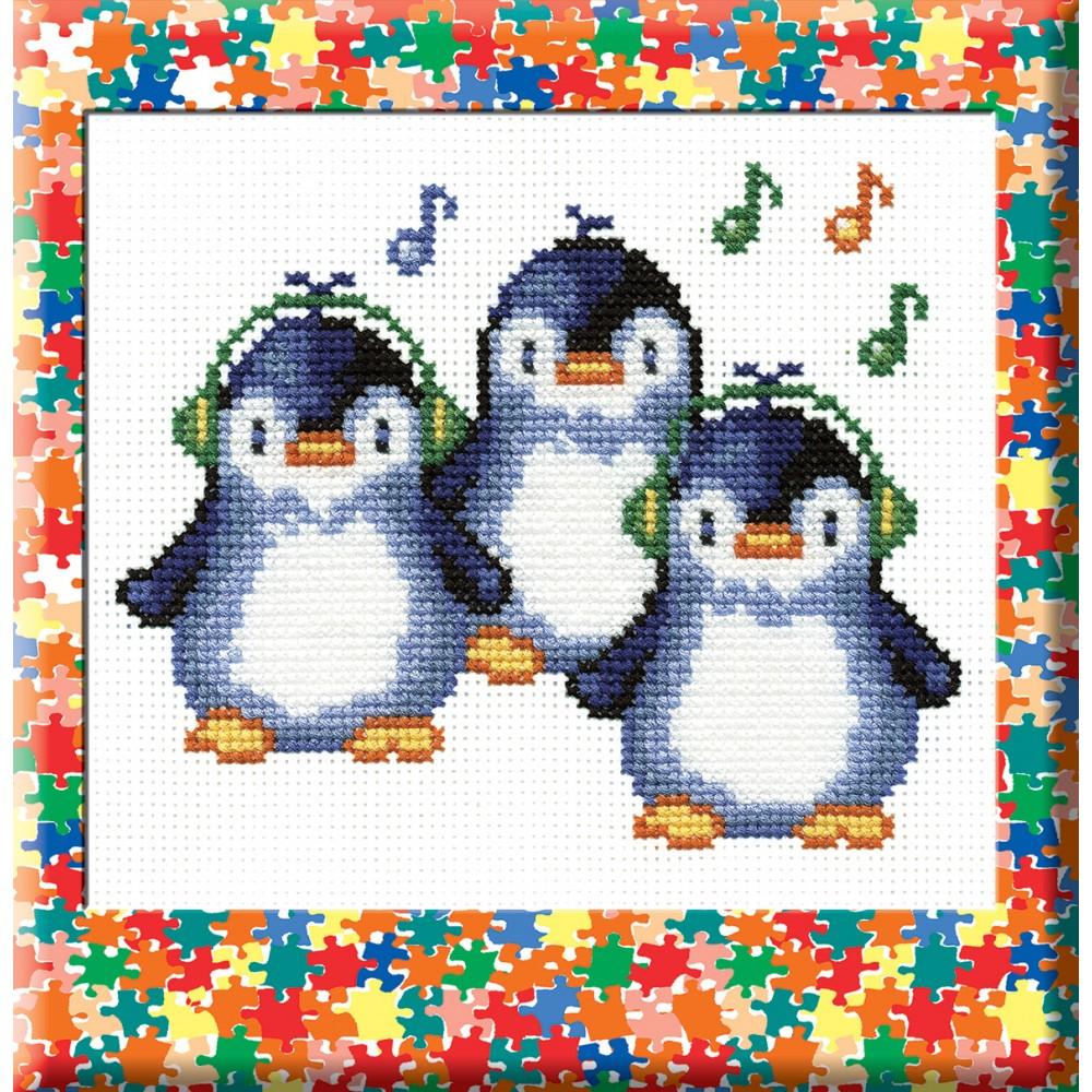 Набор для вышивания Пингвины, 19 см х 15 см427061