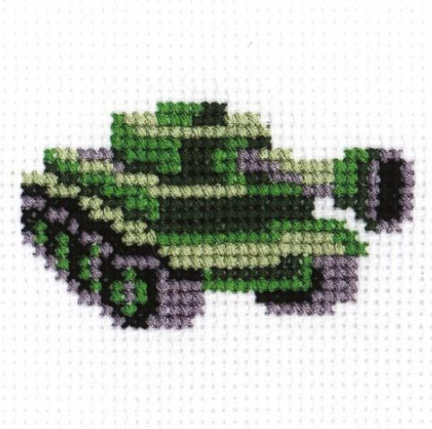 Схема вышивки крестом танки