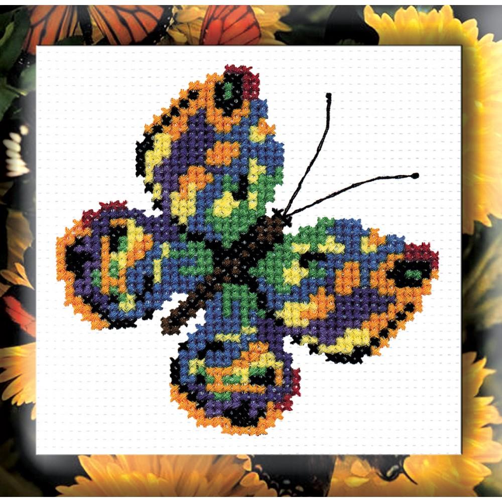 Набор для вышивания крестом Бабочка зеленая, 11 х 11 см 126642105Набор для вышивания крестом Бабочка зеленая поможет вам создать свой личный шедевр - красивую картину, вышитую нитками мулине. Работа, выполненная своими руками, станет отличным подарком для друзей и близких! Техника вышивания - шов крест в четыре нити. Набор содержит: - белая канва Aida 11 (100% хлопок) 25 см х 25 см (без рисунка), - нитки мулине (8 цветов), - игла для вышивания, - цветная символьная схема A6, - инструкция на русском языке. Размер готовой работы: 11 см х 11 см.