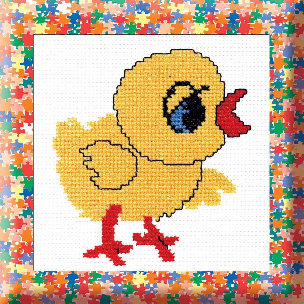 Набор для вышивания крестом Цыпленок, 30 х 25 см642120Набор для вышивания крестом Цыпленок поможет создать красивую вышитую картинку. Прекрасно подойдет для начинающих. Рисунок-вышивка, выполненный на канве, выглядит стильно и модно. Вышивание отвлечет вас от повседневных забот и превратится в увлекательное занятие! Работа, сделанная своими руками, не только украсит интерьер дома, придав ему уют и оригинальность, но и будет отличным подарком для друзей и близких! Набор для вышивания содержит все необходимые материалы. Вышивка выполняется крестом в четыре нити. В состав набора входит: - канва белого цвета 100% хлопок (4 клетки в см), - мулине мерсеризованное (4 цвета, 100% хлопок), - игла, - цветная схема.