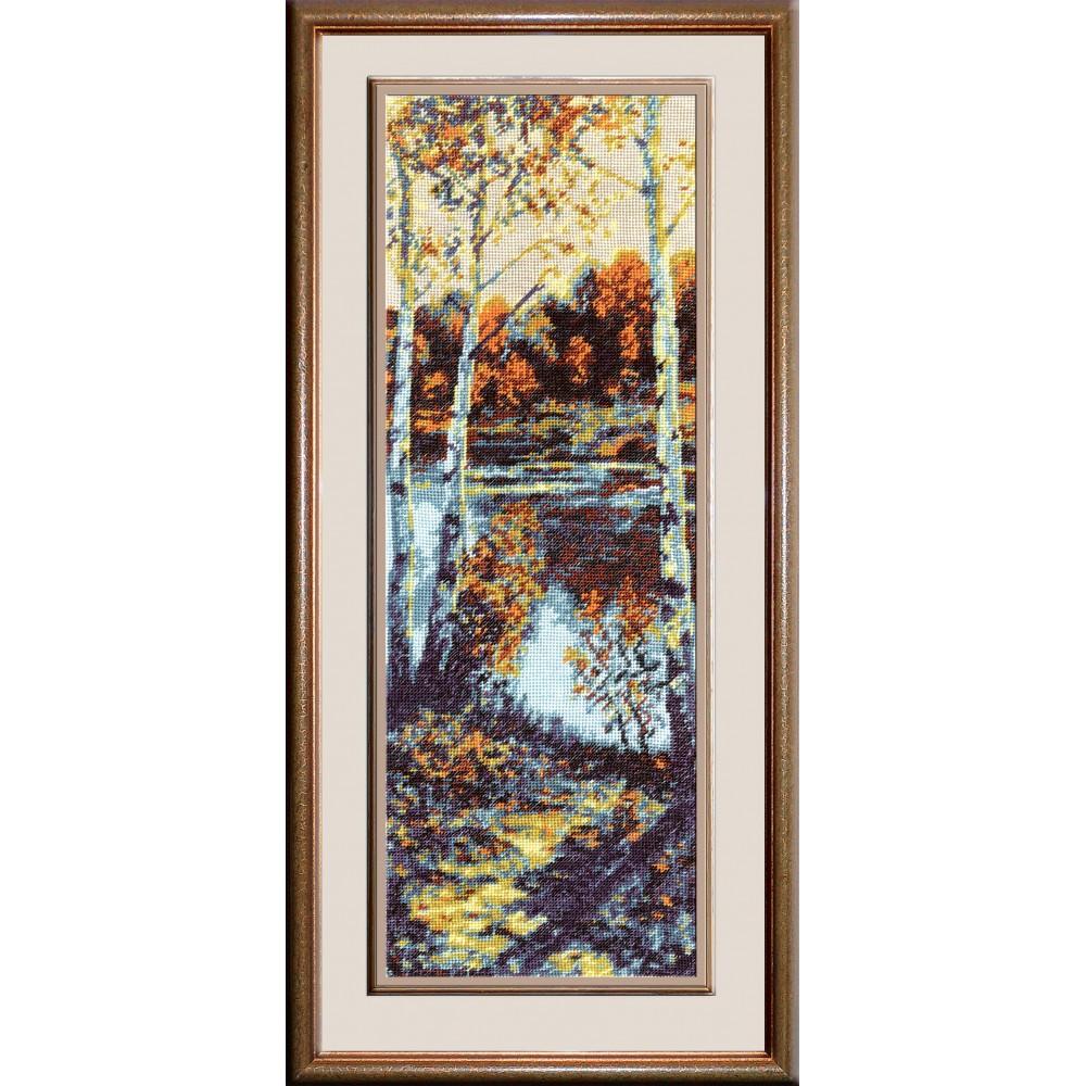 Набор для вышивания крестом Пейзаж, 44 х 15 см642195