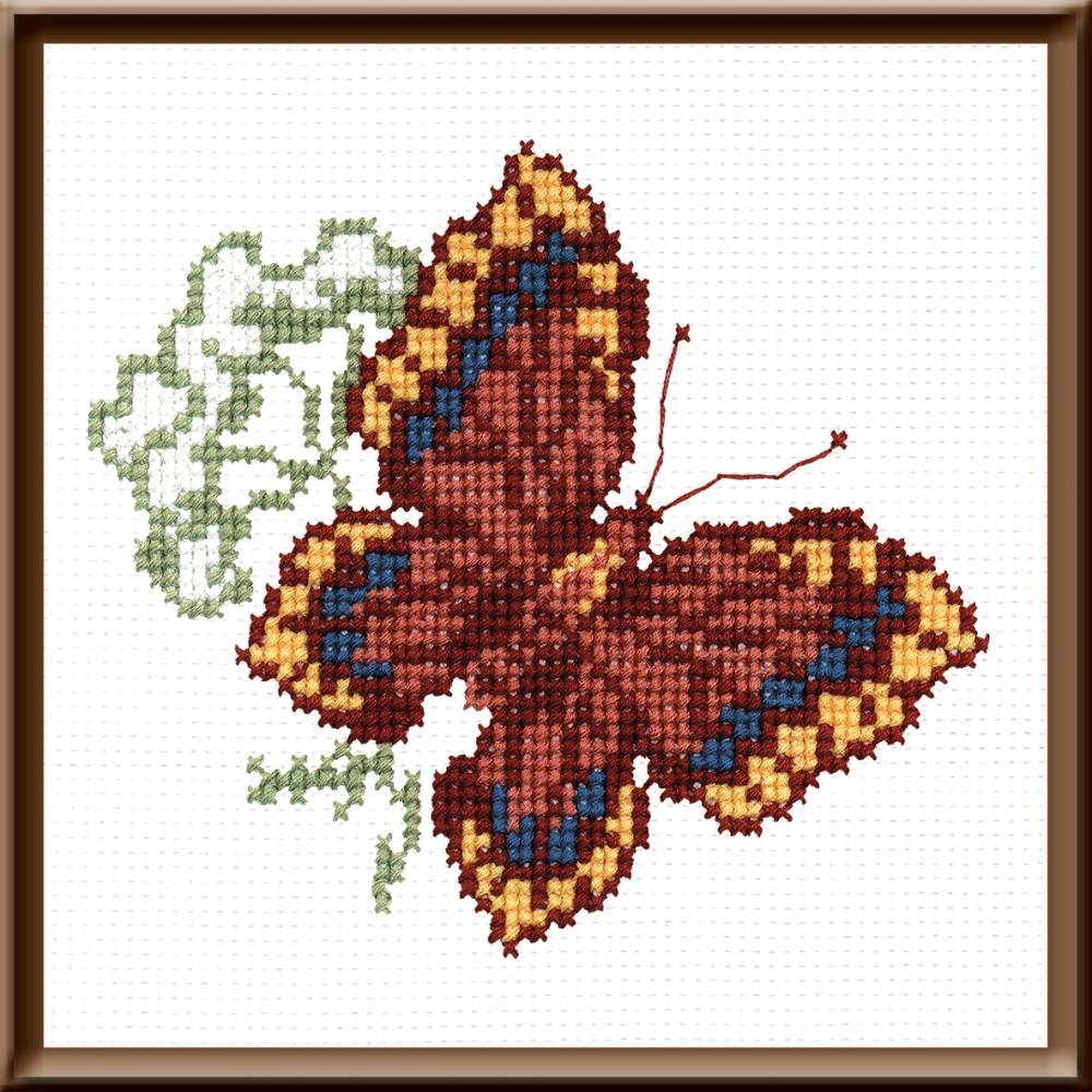 Набор для вышивания крестом Бабочка, 16 х 14 см642259