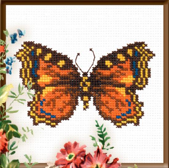 Набор для вышивания крестом Бабочка, 9 см х 14 см642260