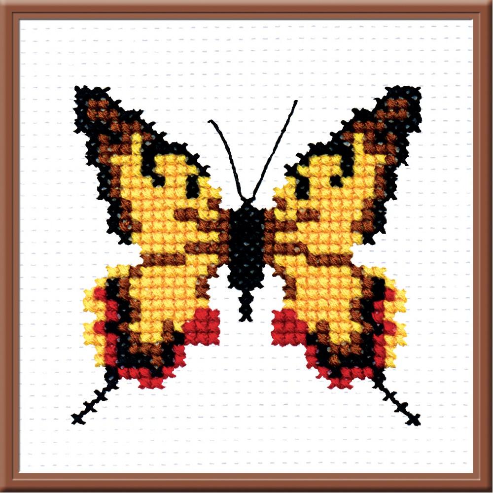 Набор для вышивания Бабочка, 8 х 8 см642290