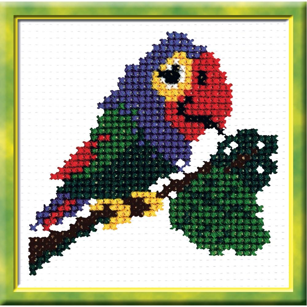 Набор для вышивания Попугай, 11 см х 11 см. 505642291