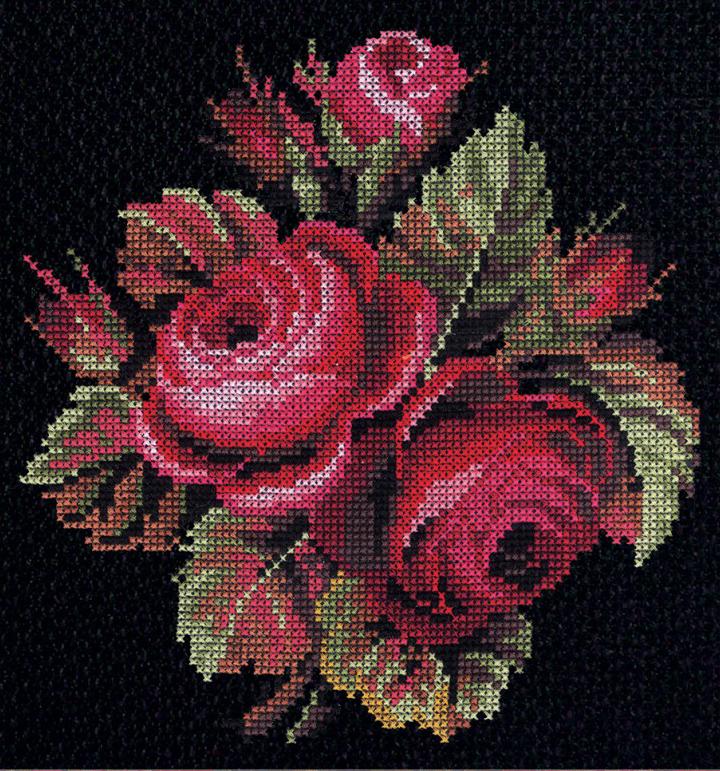 Набор для вышивания РС Студия Розы, 25 см х 24 см642331