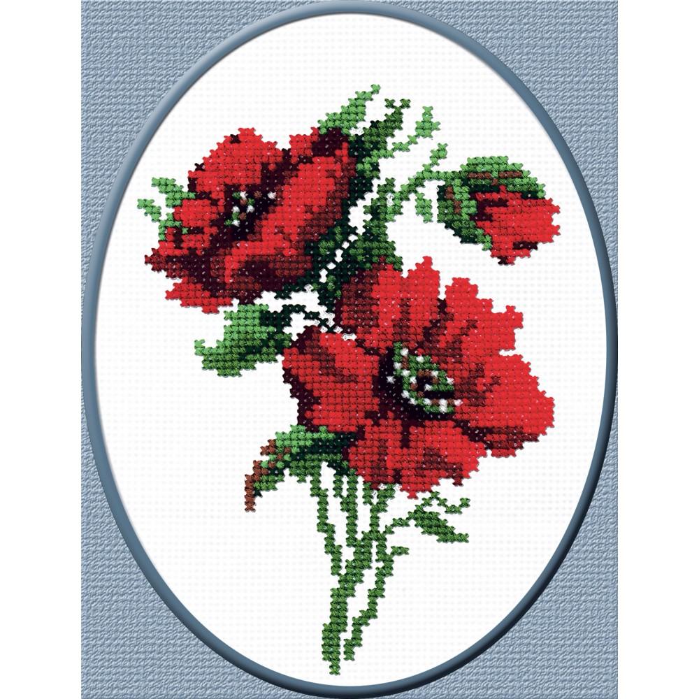 Набор для вышивания Красные цветочки, 21 см х 15 см642362Красивый и стильный рисунок-вышивка, выполненный на канве, выглядит оригинально и всегда модно. В наборе для вышивания Красные цветочки есть все необходимое для создания собственного чуда: канва, специальные нити, игла и схема рисунка. Работа, сделанная своими руками, создаст особый уют и атмосферу в доме и долгие годы будет радовать вас и ваших близких. Ведь вы выполните вышивку с любовью! Характеристики: Размер вышивки: 21 см х 15 см. Количество цветов: 10. Состав набора: - канва - специализированная игла с тупым концом для вышивания - нитки мулине - цветная схема.