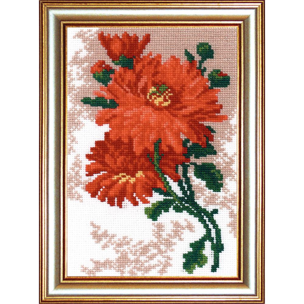 Набор для вышивания РС Студия Хризантема, 19 х 13 см642453