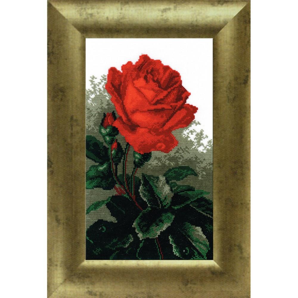 Набор для вышивания крестом Роза красная, 19 см х 30 см642472