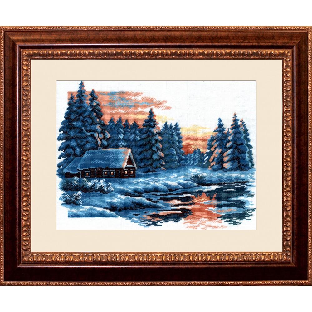 Набор для вышивания крестом Зимний пейзаж, 27 х 36 см 642475642475