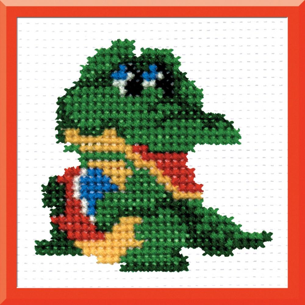 Набор для вышивания крестом Крокодил, 8 х 7 см 642494642494Набор для вышивания Крокодил поможет вам создать свой личный шедевр - красивую картину, вышитую крестом в технике простой крест. Работа, выполненная своими руками, станет отличным подарком для друзей и близких! Набор содержит: - белая канва Aida 11 (хлопок), - нитки мулине - 7 цветов (хлопок), - игла, - схема для вышивания, - инструкция на русском языке.