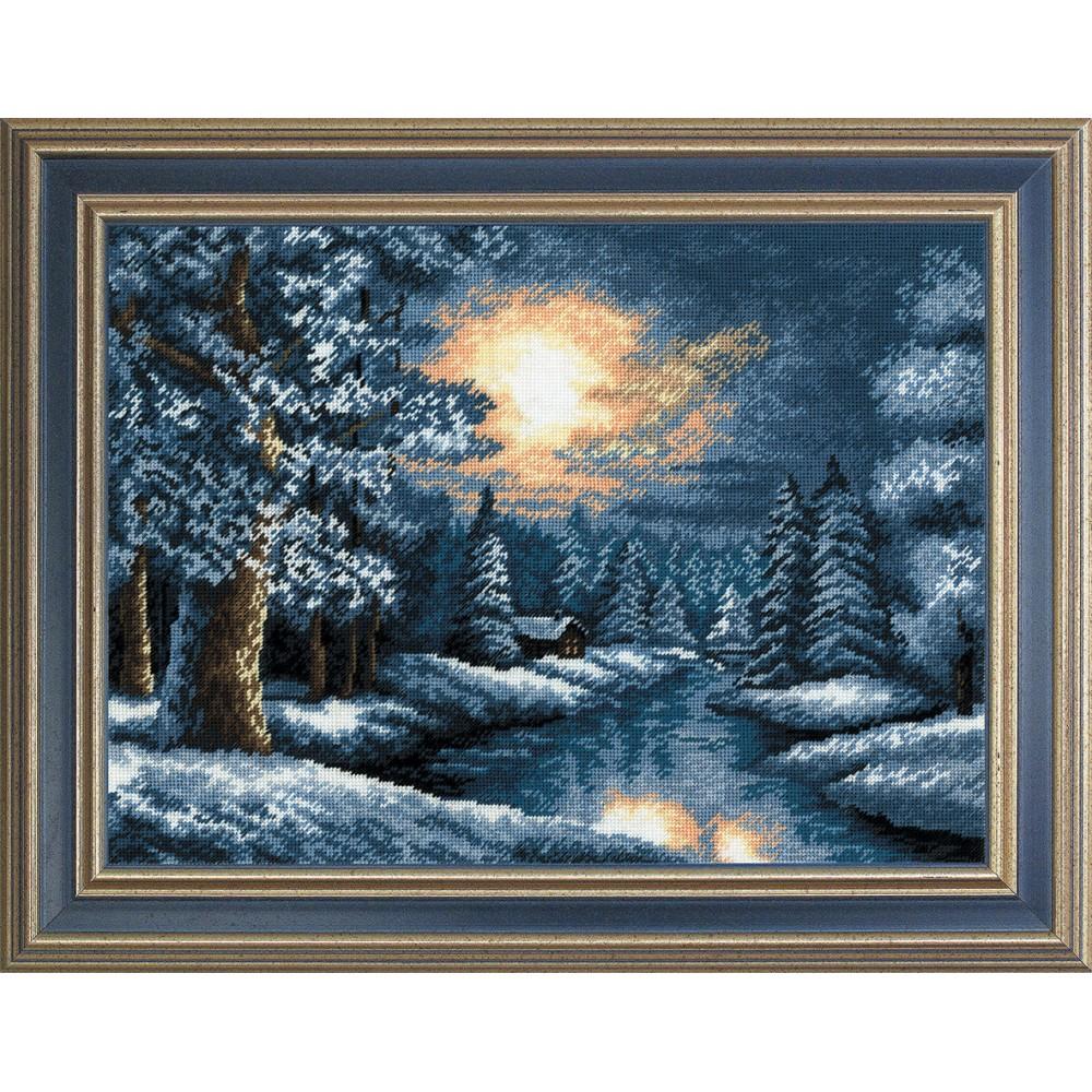 Набор для вышивания крестом Зима, 35 х 26 см642690