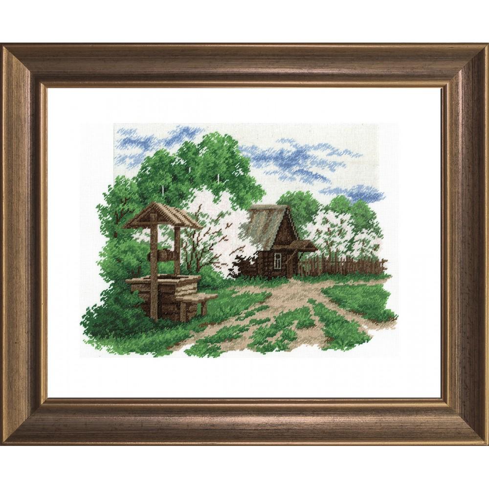 Набор для вышивания крестом Деревенский пейзаж, 27 см х 37 см642700